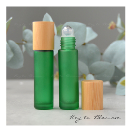 Rainbow Roller Bottle (10ml) with Bamboo Cap - Green