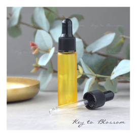 Glass Dropper Bottle (10ml) - Yellow frosted