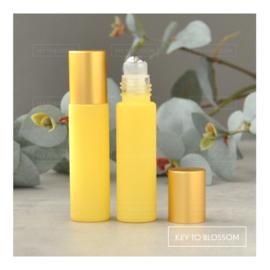 Rainbow Roller Bottle (10ml) with Matte Golden Cap - Light Yellow/Pastel (matte)
