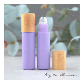 Rainbow Roller Bottle (10ml) with Bamboo Cap - Light Purple/Lilac (matte)