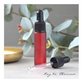 Glazen pipet fles (10 ml) - Rood