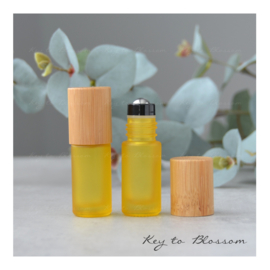 Rainbow Roller Bottle (5ml) with Bamboo Cap - Yellow