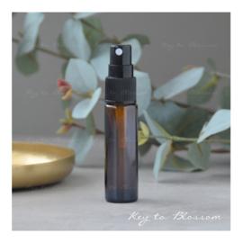 Glazen spray fles (10 ml) - Amber Bruin
