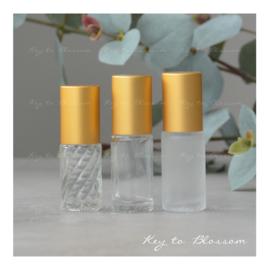 Glass Roller Bottle (5ml) with Matte Golden Cap