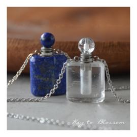 Ketting Parfumflesje - Bergkristal