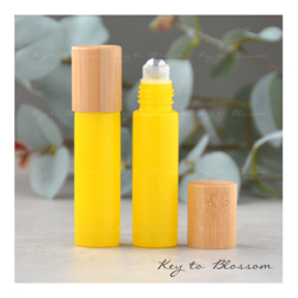 Rainbow Roller Bottle (10ml) with Bamboo Cap - Yellow Matte