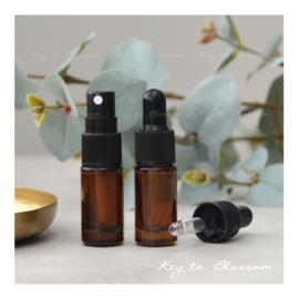 Glazen spray fles (5 ml) - Amber Bruin