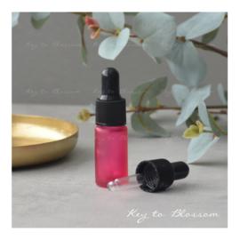 Glazen pipet fles (5 ml) - Roze