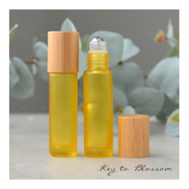 Rainbow Roller Bottle (10ml) with Bamboo Cap - Yellow