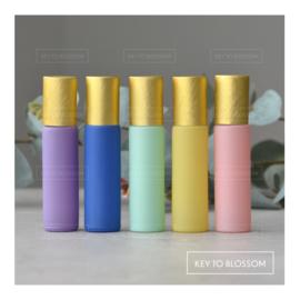 Pastel Rollers met Gouden Dop 10 ml - Set van 5
