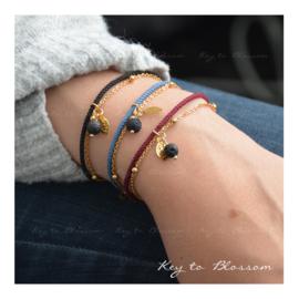 Lava Rock bracelet Coloured Cord (four colour options)