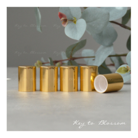 Roller Bottle Caps - Set of 5 - Shiny Golden