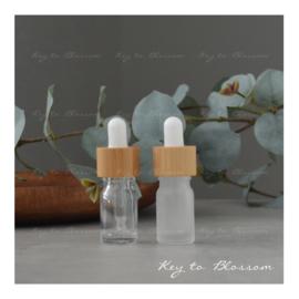Glazen pipet fles (5 ml) - Bamboe