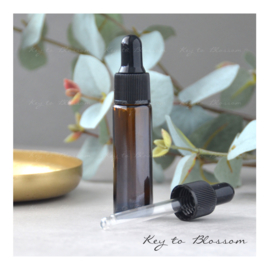 Glass Dropper Bottle (10ml) - Amber Brown