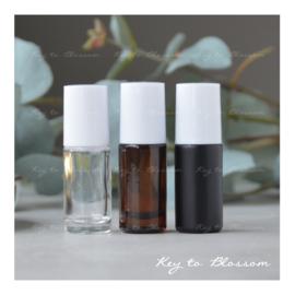 Glazen Roller 5 ml - Wit (diverse opties)