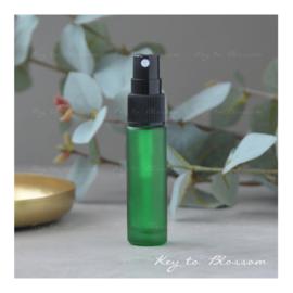 Glazen spray fles (10 ml) - Groen