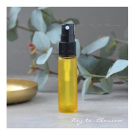 Glazen spray fles (10 ml) - Geel