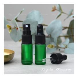Glazen spray fles (5 ml) - Groen