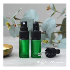 Glass Spray Bottle (5ml) - Green