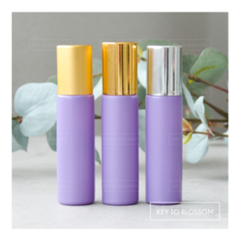 Rainbow Roller Bottle (10ml) with Matte Golden Cap - Light Purple/Lilac (matte)