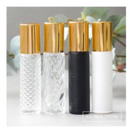 Glazen Roller 10 ml - Shiny Gold (diverse opties)