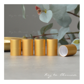 Roller Bottle Caps - Set of 5 - Matte Golden