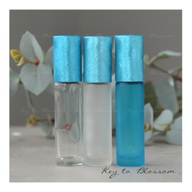 Rainbow Roller Bottle (10ml) - Light Blue/Teal NEW STYLE