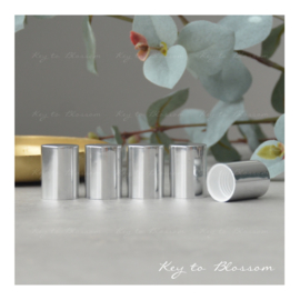 Roller Bottle Caps - Set of 5 - Shiny Silver