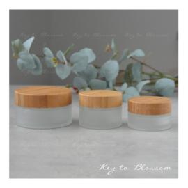 Glass Jar Bamboo - Set of 3