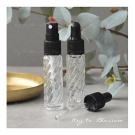 Glazen spray fles (10 ml) - Boho Swirl