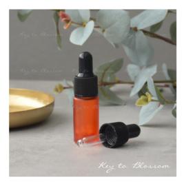 Glass Dropper Bottle (5ml) - Orange