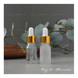 Glazen pipet fles (10 ml) - Goud