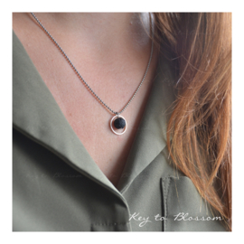 Lava Rock Necklace Circle - Large
