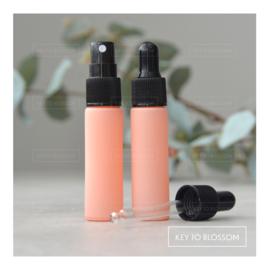Glazen spray fles (10 ml) - Licht Roze/Zalm