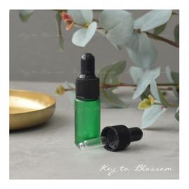 Glazen pipet fles (5 ml) - Groen