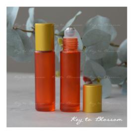 Rainbow Roller Bottle (10ml) with Matte Golden Cap - Orange