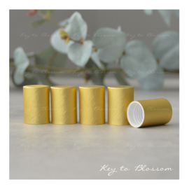 Roller Bottle Caps - Set of 5 - Yellow/Bronze NEW STYLE