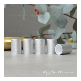 Roller Bottle Caps - Set of 5 - Brushed Silver