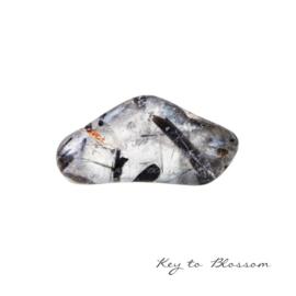 Tourmaline Quartz - Tumbled cuddle stone