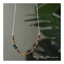 Lava Rock Necklace - Tiger Eye