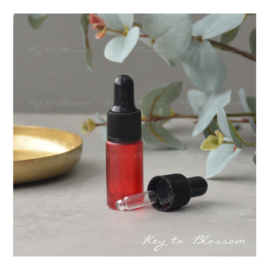 Glass Dropper Bottle (5ml) - Red