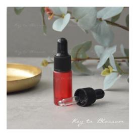 Glazen pipet fles (5 ml) - Rood