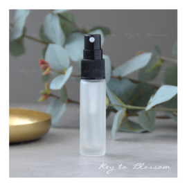 Glass Spray Bottle (10ml) - White frosted