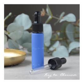 Glazen pipet fles (10 ml) - Mat Blauw