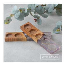 Oil Holder - Maple Wood/Purple Epoxy