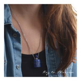 Ketting Parfumflesje - Lapis Lazuli