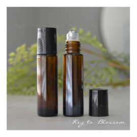 Glazen roller bruin (10 ml)