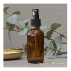 Glazen spray fles bruin - 60 ml