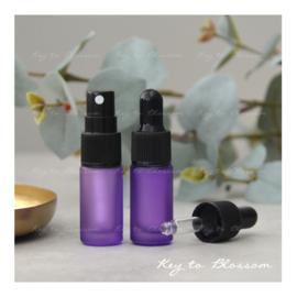 Glazen spray fles (5 ml) - Paars