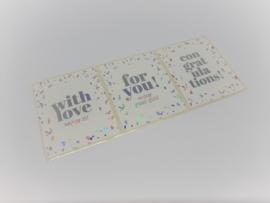 Stickers | rechthoek holografisch mix | 9 stuks